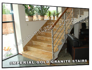 imperial gold granite stairs