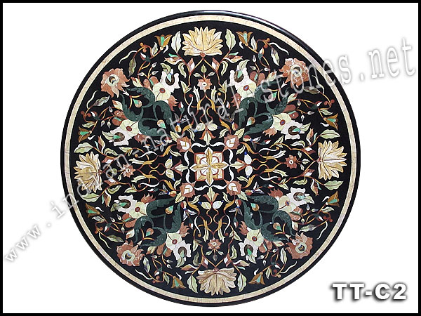 marble inlay table top designs