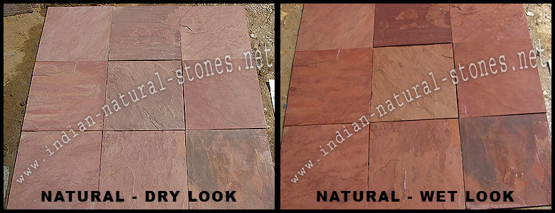 North India Terra Red Slate Tiles