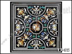 semiprecious stone inlay table tops